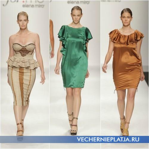Модные платья для полных Весна-Лето 2013 от Elena Miro