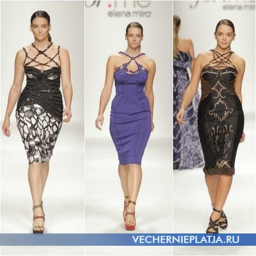 Модели платья футляр для полных от Елены Миро 2013