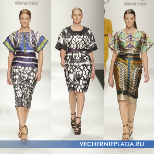 Модные платья 2013 для полных, коллекция Елена Миро