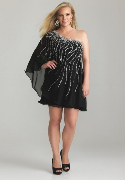 Маленькое черное платье для полных на выпускной 2013