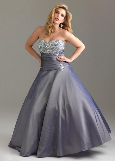 Выпускное платье принцесса с открытыми плечами для полных