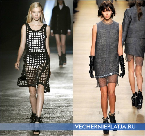 Модное платье-сетка в коллекциях Diesel Black Gold и Paco Rabanne
