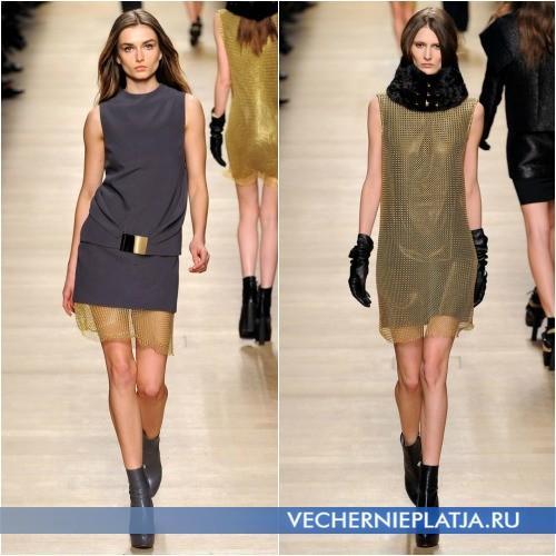 Нарядные платья с сеткой от Paco Rabanne