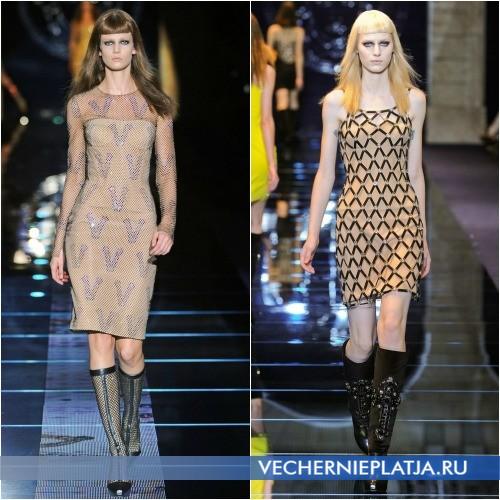 Модное платье с сеткой от Versace