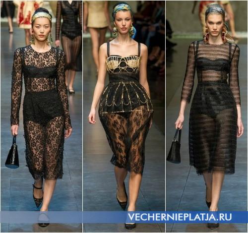 Прозрачные кружевные платья 2013 от Dolce & Gabbana