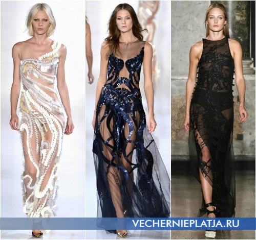 Просвечивающиеся платья от Valentin Yudashkin и Emilio Pucci