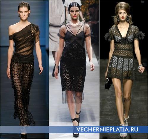 Модели прозрачных платьев 2013 от Alberta Ferretti, Loewe и Moschino