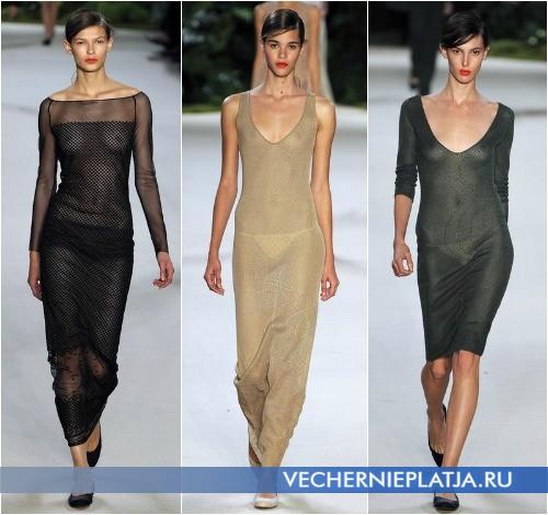 Прозрачное обтягивающее платье 2013 в коллекции Akris фото
