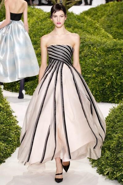 Черно-белое платье вечернее от Christian Dior