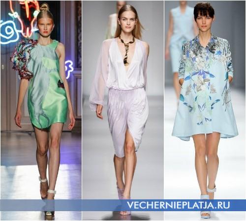 Короткие летние платья пастельных оттенков от Tsumori Chisato, Blumarine, Cacharel
