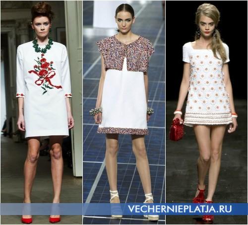 Платья летние короткие белые 2013 от Alexander Terekhov, Chanel, Moschino