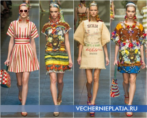 Коллекция коротких летних платьев Dolce & Gabbana 2013 года