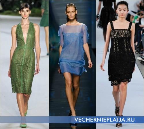 Прозрачные и кружевные короткие платья 2013 от Akris, Alberta Ferretti и Oscar de la Renta