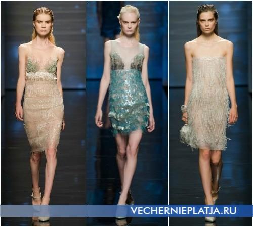 Модные вечерние платья 2013 короткие от Alberta Ferretti