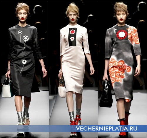 Весенние деловые платья 2013 от Prada