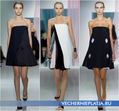 Весеннее платье 2013 с открытыми плечами от Christian Dior