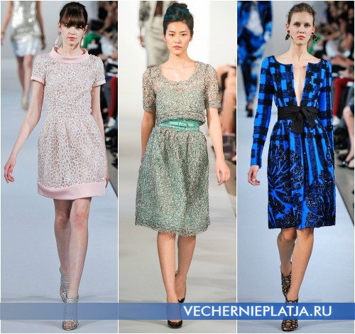 Весенние платья 2013 в романтическом стиле, на фото коллекции Oscar de la Renta