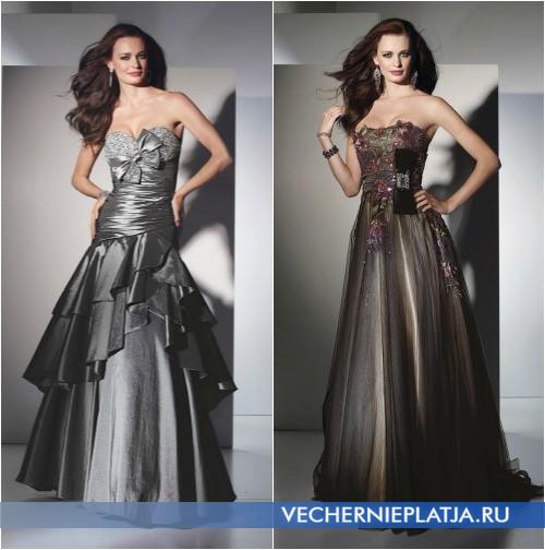 Длинные вечерние платья с бантом фото