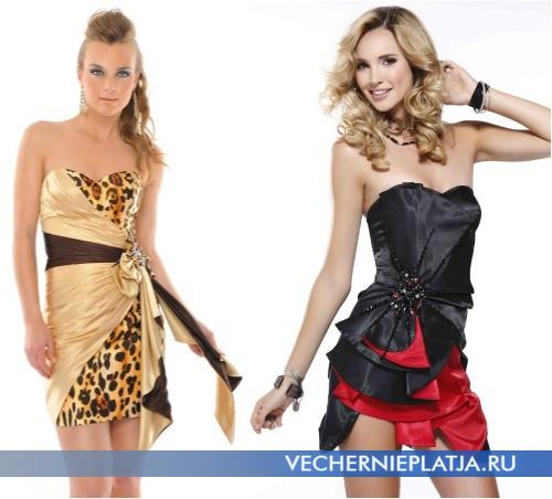 Клубные платья с бантом спереди фото