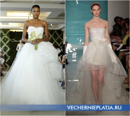 Красивые свадебные платья с бантом от Oscar de la Renta и Reem Acra