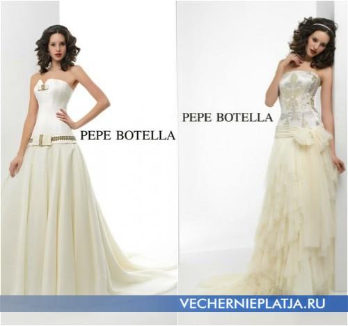 Модные свадебные платья с бантом фото Pepe Botella