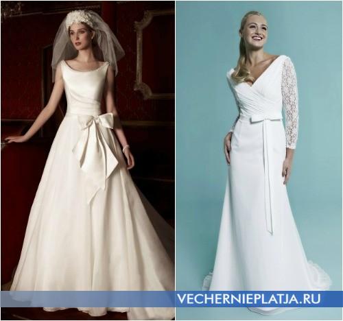 Свадебные платья с бантом на талии от Alan Hannah и Amanda Wyatt