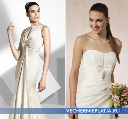 Свадебные наряды с бантом под грудью, на фото модели Franc Sarabia и Sweetheart