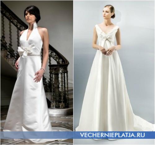 Бант на свадебном платье, на фото модели Grace Harrington и Jesus Peiro