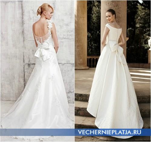Свадебное платья с бантом сзади фото