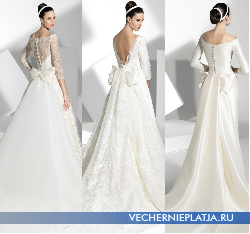 Роскошные свадебные наряды с бантом сзади от Franc Sarabia