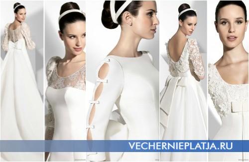 Бант в разных частях свадебного платья от Franc Sarabia
