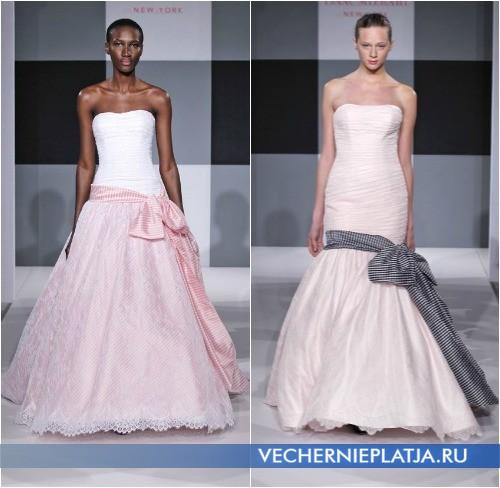 Свадебные платья с клетчатым бантом от Isaac Mizrahi
