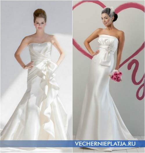 Оригинальное украшение свадебных платьев в виде банта от Junko Yoshioka и Sweetheart