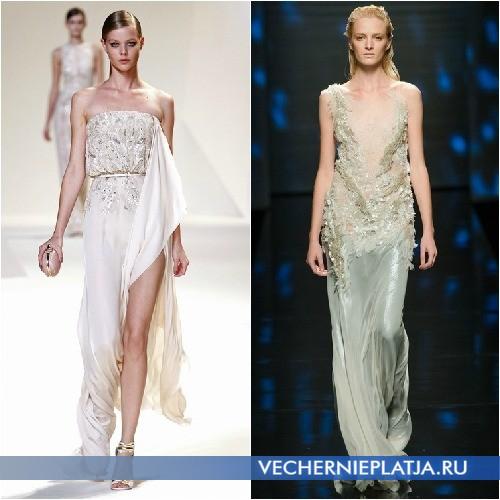 Греческие платья в пол лето 2013