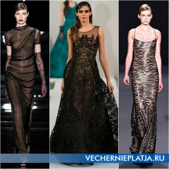 Прозрачные платья для Нового года 2014
