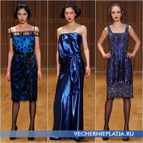 Синие платья на Новый год 2014 фото