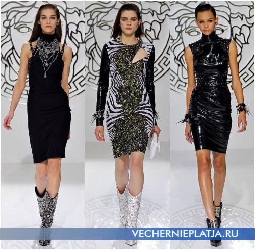 Короткие платья для встречи Нового года 2014