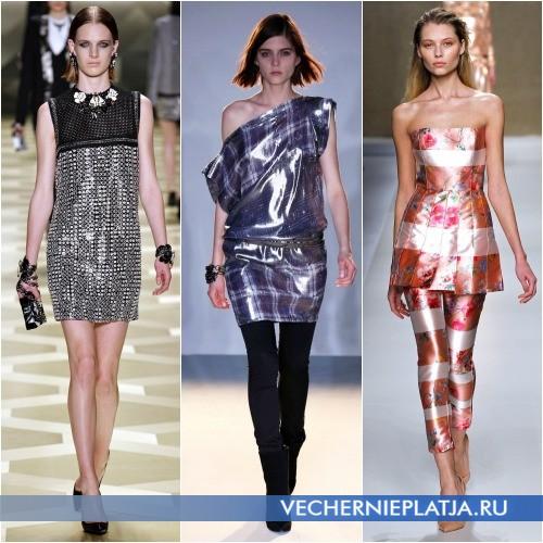 Осенние мини-платья и платья с брюками