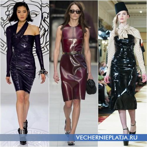 Блестящие платья для осенне-зимнего сезона
