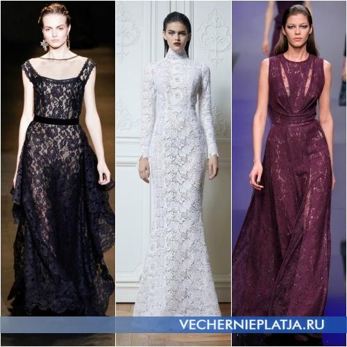 Ажурные вечерние платья