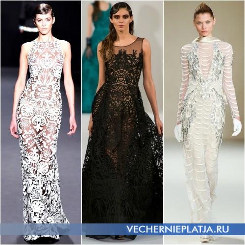 Длинные вечерние платья 2013-2014 фото