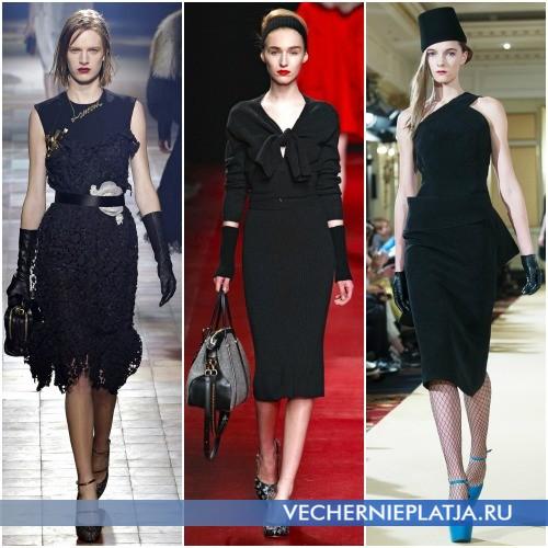 Черное платье-миди фото