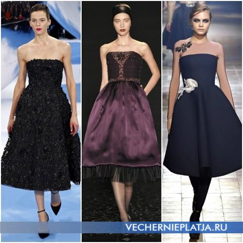 Модные платья длины миди фото