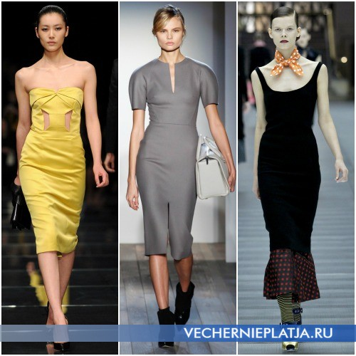 Популярные модели платьев длины миди