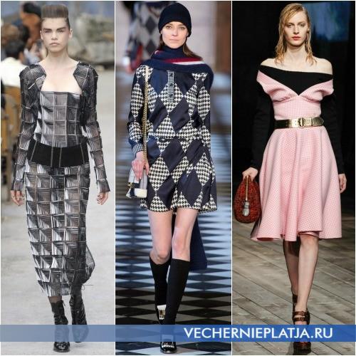 Клетчатые платья Осень-Зима 2013-2014