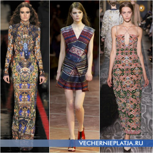 Этнический принт платья
