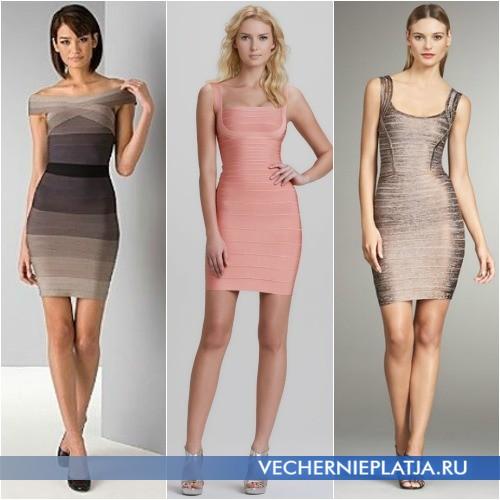 Модные бандажные платья фото