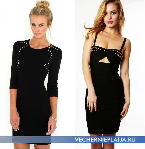 Как можно украсить верх черного платья