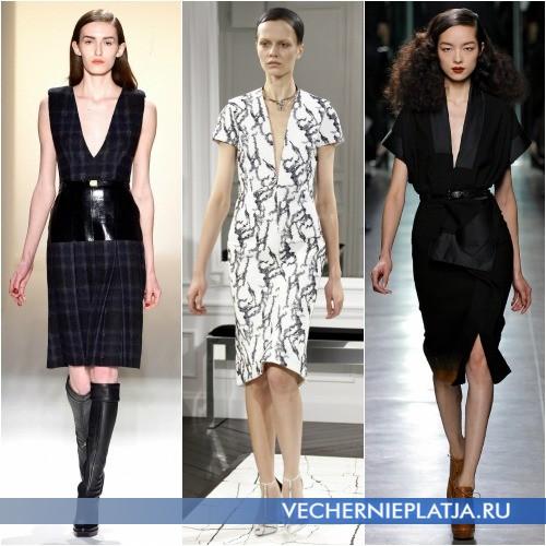 Платья с V-образным вырезом для невысоких