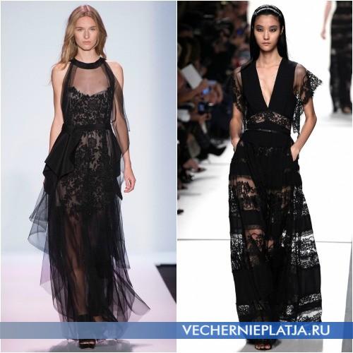 Черные длинные гипюровые платья 2014